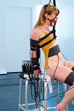 Ginger submissive gets electro-trained 00