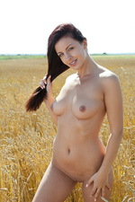 Darselle nude on a barley field 08