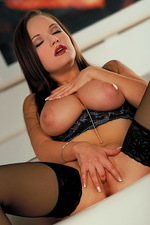 Lucy huge nice shaped titties 05