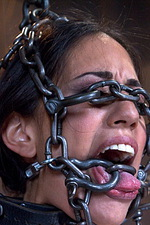 Sexy slut is immobilized by hard steel  00