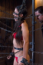 Sexy slut is immobilized by hard steel  02