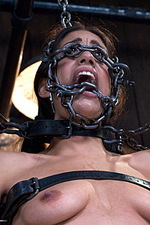 Sexy slut is immobilized by hard steel  03