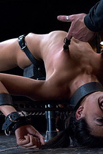 Sexy slut is immobilized by hard steel  05