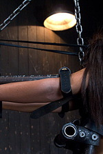 Sexy slut is immobilized by hard steel  10
