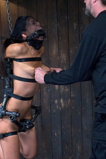 Sexy slut is immobilized by hard steel  11