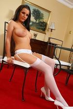 Gorgeous look Eva poses in stockings 08