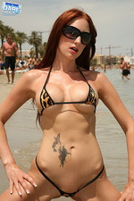 Leopard printed bikini 11