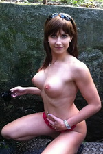 Horny big tit girls playing with their cameras  07