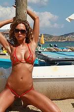 Hottest red bikini 07
