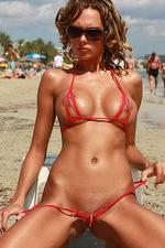 Hottest red bikini 11