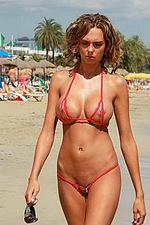 Hottest red bikini 13