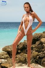 Sexy white bikini 00