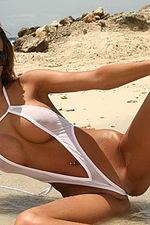 Sexy white bikini 08