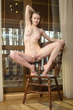 Cute hot teen Tanya on the chair 08