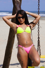 Sexy Latin Amateur Teen Babe Strips Out Her Bikini 00