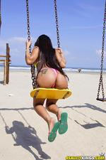 Sexy Latin Amateur Teen Babe Strips Out Her Bikini 02