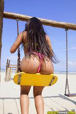 Sexy Latin Amateur Teen Babe Strips Out Her Bikini 06