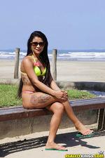 Sexy Latin Amateur Teen Babe Strips Out Her Bikini 07