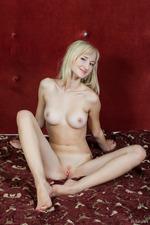 Sexy Blonde Zemira Poses Naked 14