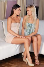 Iwia And  Lila Lesbian Babes Lick Each Other 00