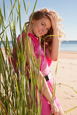 Pretty Patritcy Fingers Herself On The Beach 01