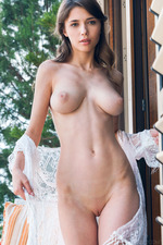 Mila Azul Dressed In Nothing But A Lacy Top 11