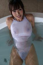 Mikuru Mio Seethru Swimsuit 08