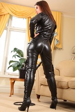 Tammy In Leather Catsuit 00