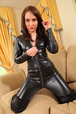 Tammy In Leather Catsuit 02
