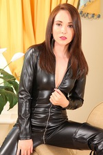 Tammy In Leather Catsuit 04