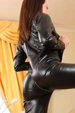 Tammy In Leather Catsuit 10