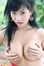 Lucy Sun Busty Asian Chick Strips 07