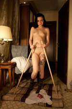 Zara D Strips To Naked In A Hotel Room 07