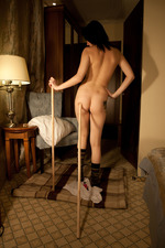 Zara D Strips To Naked In A Hotel Room 08