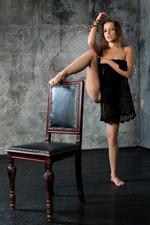 Sweet-faced Russian Brunette Nikia 16