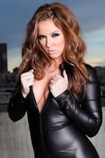 Maddy Oreilly In Black Latex 02