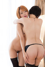 Chie And Akari Posing In Sunlight 14