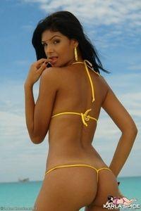 Karla is stunning in her tiny bikini