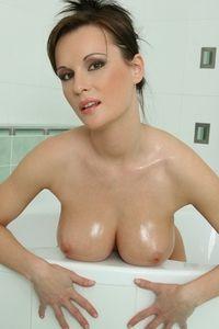 Miriam showering