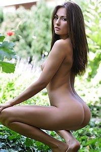 Michaela Isizzu In Garden