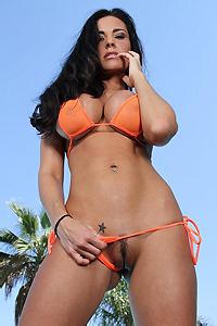 Laura Lee Skimpy Orange Bikini