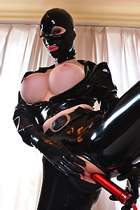 Latex Lucy Is Masturbating
