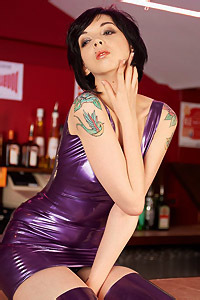 Mimi In Purple Latex