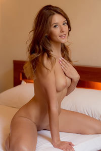 Brunette Teen Naked On Bed