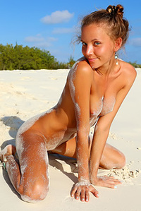Skinny Chick Naked On Shore