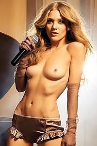 Hot Blonde Performing Topless