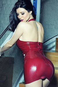 Lilly Roma In A Sexy Tight Latex Dress