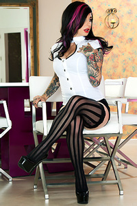 Joanna Hot Tattooed Burning Angel