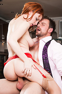 Redhead Lola Gatsby Gets Fucked In The Kitchen