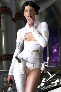 Pornstar In A Star Wars Cosplay